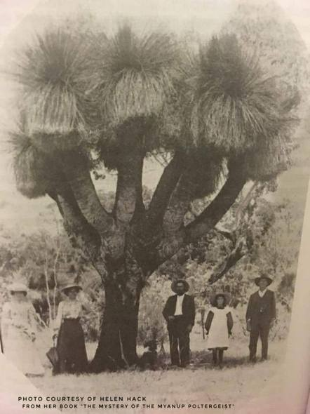 This amazing photo was taken in 1910 near Boyup Brook and published in a book by Helen Hack, The Mystery of the Mayanup Poltergeist