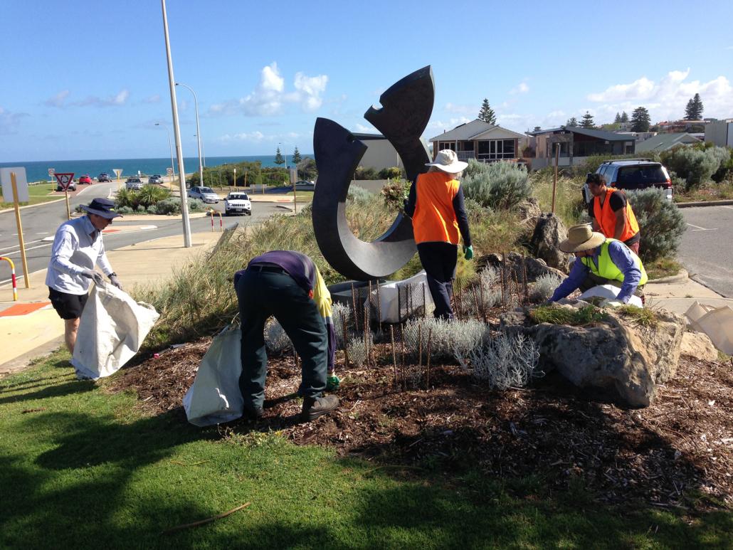 Weeding team at Grant Marine Park