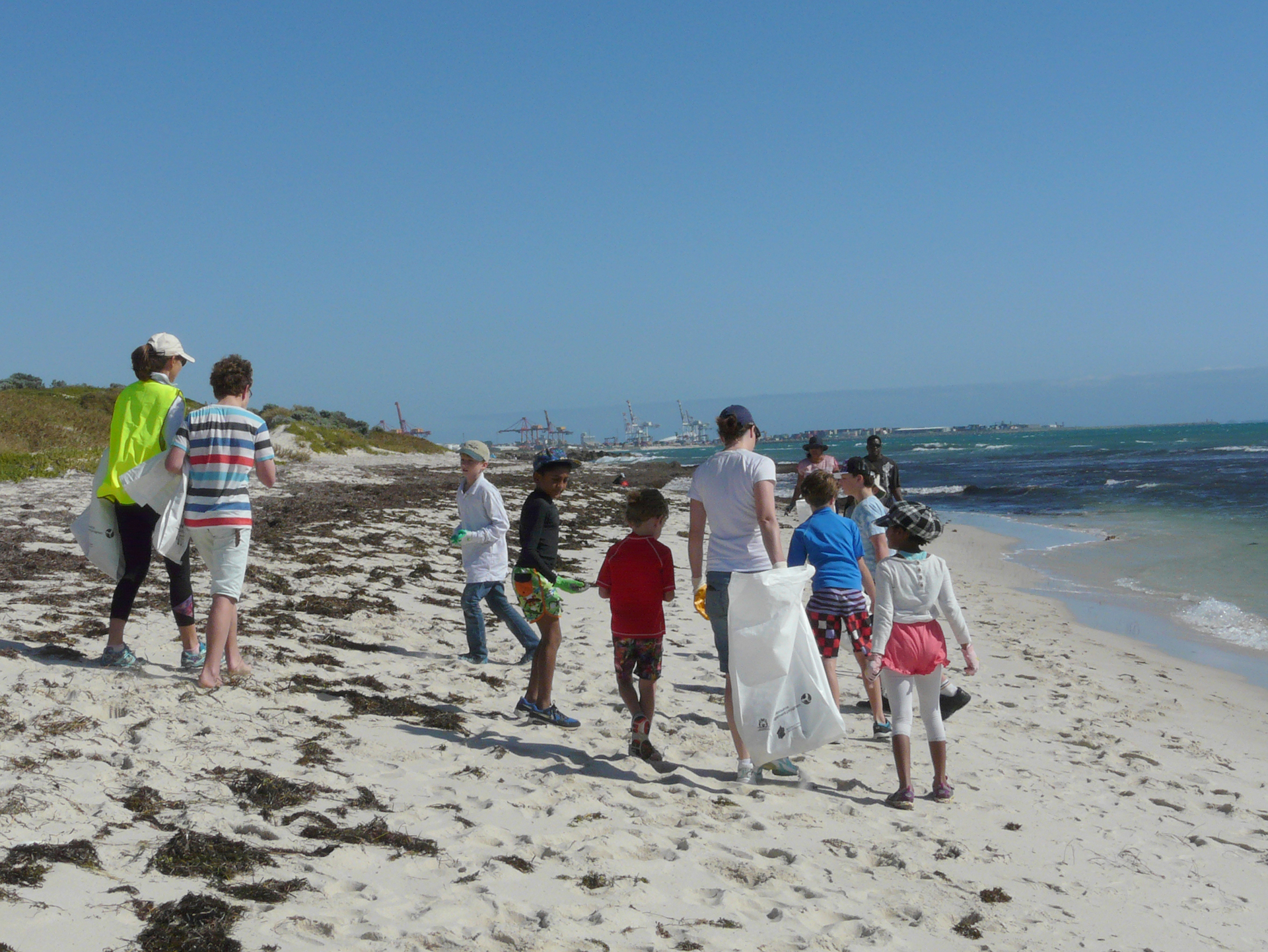 South Cottesloe beach cleaning team