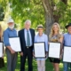 Town of Cottesloe 2019 award winners – (L) Ella Wylynko , CCA's Mike Ewing, Mayor Phil Angers, CCA's Robyn Benken, Kirsty Barrett and Ross Barthgate.