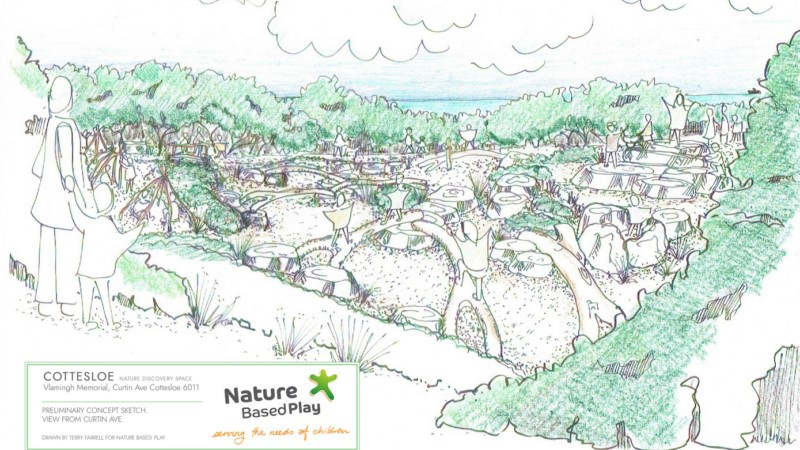 Sketch plan for nature discovery area Vlamingh