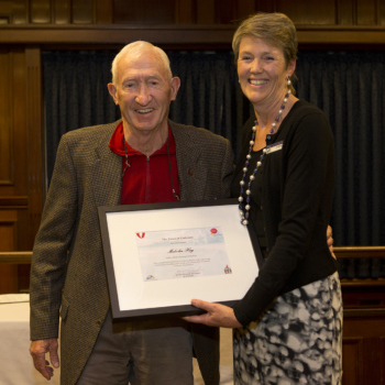 Malcolm Hay receives Cottesloe award